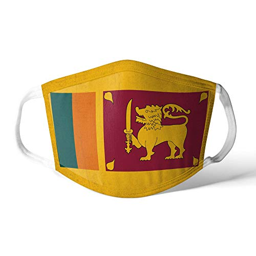 M&schutz Maske Stoffmaske X Groß Asien Flagge Sri Lanka/Lankan Wiederverwendbar Waschbar Weiches Baumwollgefühl Polyester Fabrik