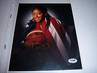 Candace Parker WnbaTennesse VolsOlympics PSA/DNA Autographed Signed 8x10 Photo