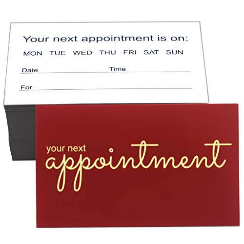 RXBC2011 Appointment Reminder Cards Pack of 100 Wine Red