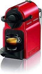 Idea Regalo - Nespresso Inissia Macchina per caffé espresso, a capsule, 1260 W, 0.7 L, Rosso (Ruby Red)