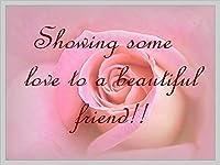 美しい友人にいくつかの愛を示すティンサイン装飾ヴィンテージ壁金属プラークカフェバー映画ギフト結婚式誕生日警告のためのレトロな鉄の絵画