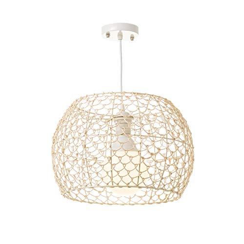 Lámpara colgante de rattan natural beige moderno para salón France - LOLAhome
