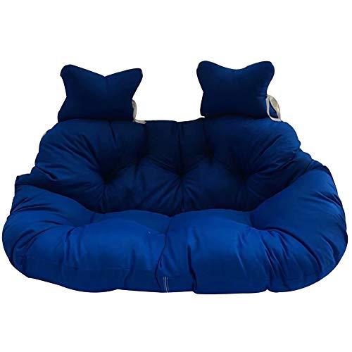 Qiott Opknoping mand rotan stoel kussen, hangend ei nest gevormd kussen voor 2 personen zitritssluiting wasbaar 95x148cm(37x58inch) H