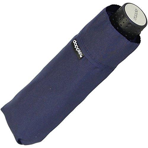Doppler Regenschirm Mini- Taschenschirm Havanna Stick - sturmfest Uni Navy