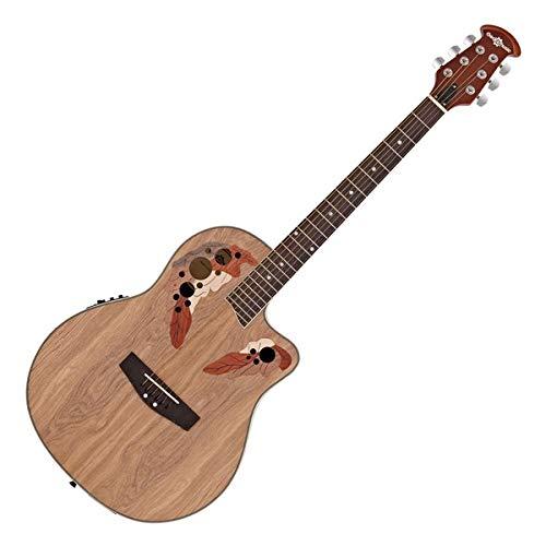 Guitarra Electroacustica Deluxe Roundback de Gear4music Natural