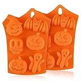 Stampi in Silicone per Cioccolatini, Diealles Shine 2 Pezzi Stampi da Forno in Silicone di Halloween per Torta di Pasticceria Muffin