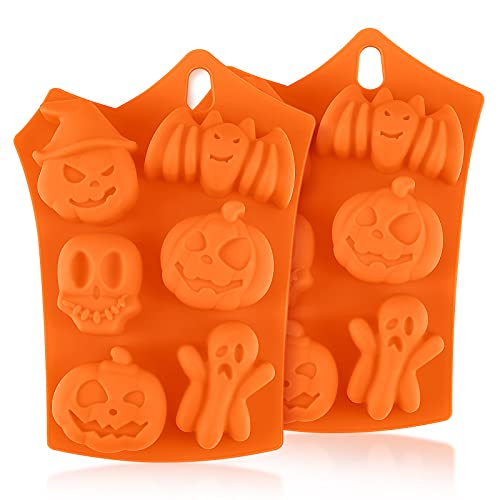 Moldes de Silicona para Hornear para Halloween, Diealles Shine 2 Piezas Moldes de Chocolate Silicona para Halloween