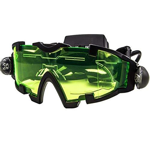 Gafas de visión nocturna militar con banda elástica ajustable con luz LED para actividades nocturnas