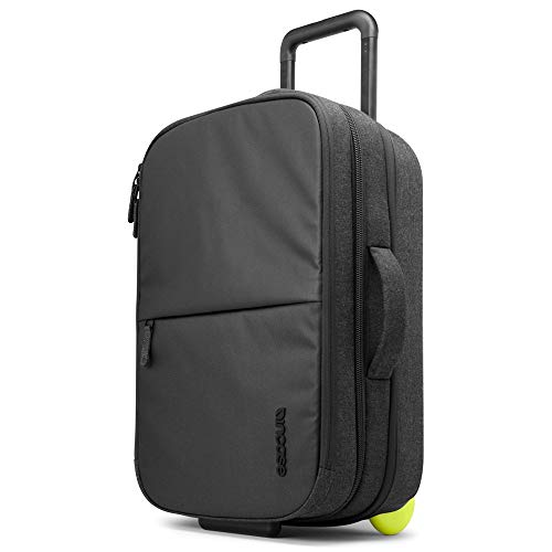 Incase EO 22' TSA Friendly Expandable Lightweight Travel Carry-On Luggage Suitcase and Laptop Bag with Wheels - Black