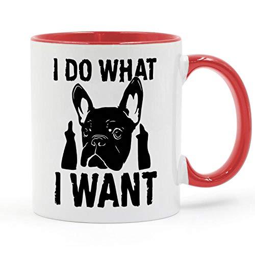 Hago Lo Que Quiero Bulldog Francés Taza De Café Regalos Creativos 11Oz...