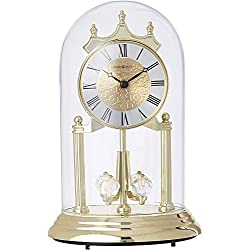 Howard Miller Christina Gold Anniversary Table Clock 645-690 - Modern with Quartz Movement