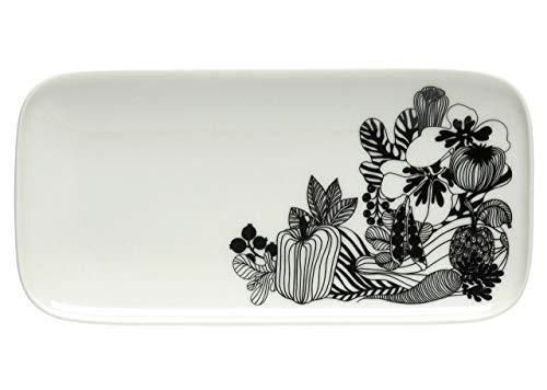 Marimekko Siirtolapuutarha Oiva Platte 12x 24,5 cm limitiert 191 weiß, schwarz