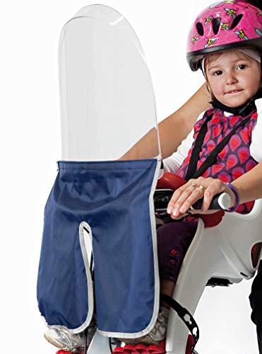 Pare-brise - Windbreak - Pare-brise pour siège enfant vélo avant - pour guidon