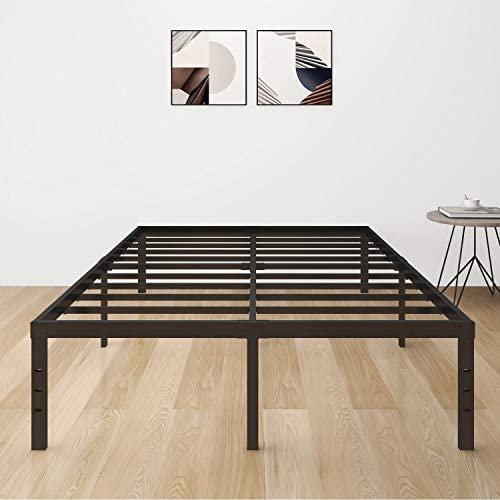 LOTCAIN 18 Inch Metal Platform Bed Frame with Steel Slat Support Mattress Foundation No Box product image
