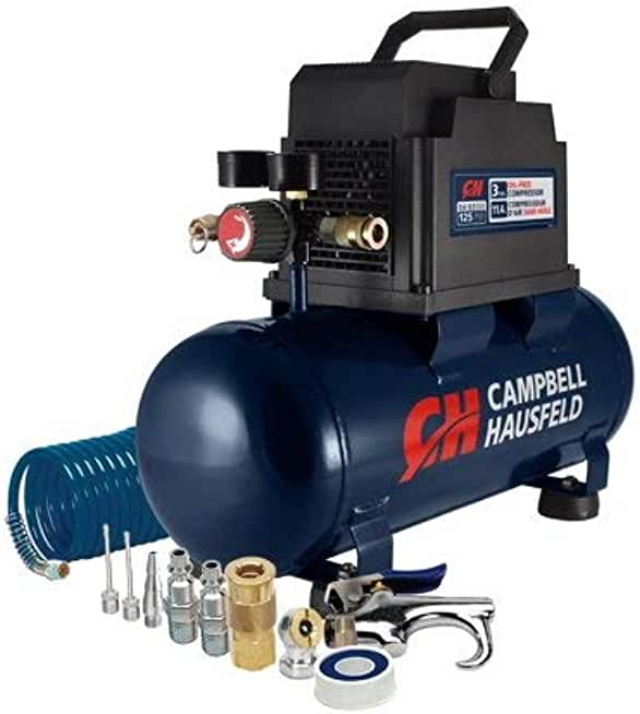 Campbell Hausfeld 3-Gallon Inflation and Fastening Compressor with Accessory Kit