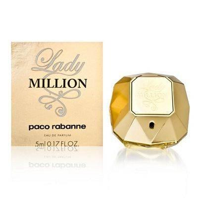 Lady Million by Paco Rabanne 0.17 oz Eau de Parfum Miniature Collectible by Unknown (0.17 Ounce Miniature Collectible)