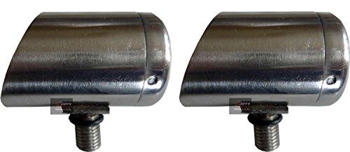 2x 3cm Horizon Edelstahl Specialist Butt Cup für Rod Pods