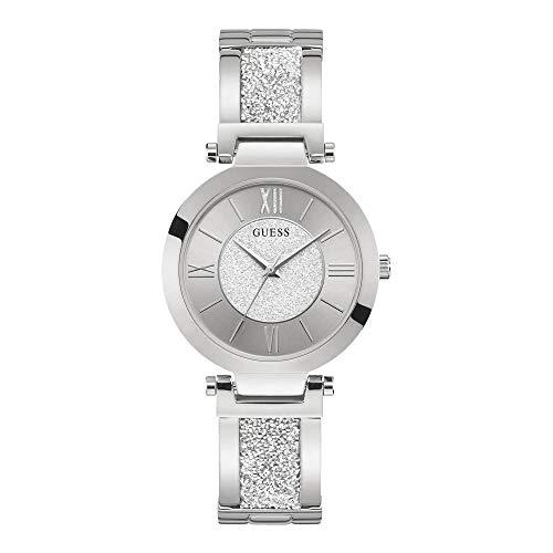 Guess Aurora – Reloj de pulsera para mujer – Acero inoxidable – Pulsera/Esfera con piedras