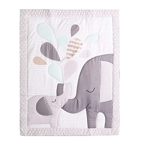 TEALP Baby Toddler Coperta Trapunta Culla Consolatore Culla Trapunte per neonati per ragazzi e ragazze Nursery Bed Throw Blanket 84x107cm-Grey Elephant