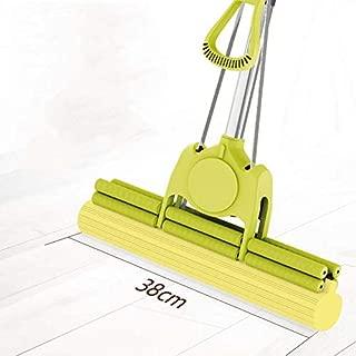 Floor PVA Sponge Mop Super Absorbent Sponge Head, Floor Retractable Stainless Steel Handle Mop for Family Floor Kitchen Living Room
