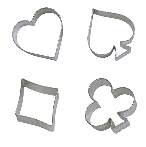 Lchen Cake Cookie Cutter Decorating Diamonds Spade Club Heart Stainless Steel Bakeware Tools
