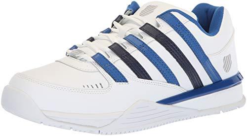 K-Swiss Herren Baxter Sneaker, Weiß (White/Classic Blue/Navy 175), 47 EU