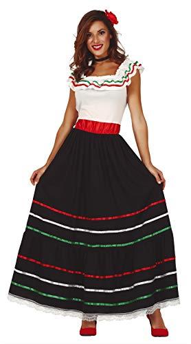 FIESTAS GUIRCA Disfraz Mujer Mexicana Talla l