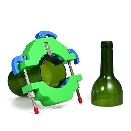 Festnight Glazen flessensnijder DIY fles snijgereedschap voor wijn bierchampagne flessen lampenkap bloempot vasen maken groen