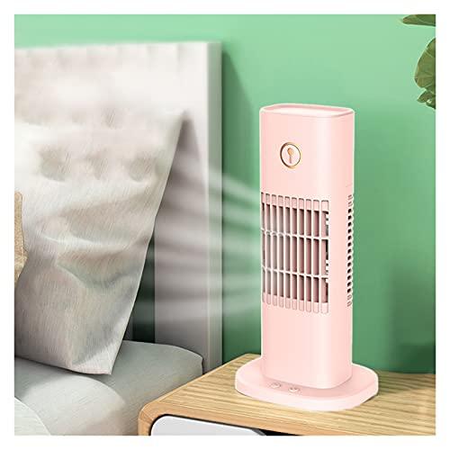DOUYUAN Acondicionador de Aire portátil, refrigerador de Aire evaporativo, humidificador, 3 Modos Aire Acondicionado Personal Ventilador (Color : Pink)