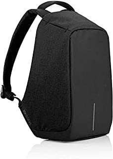 Anti Theft Laptop Backpack with USB Charging Port Shoulder Bag - Black