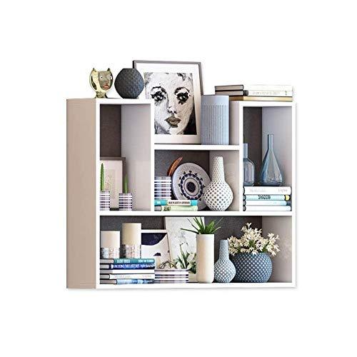 YYEN Floating Shelves Wall Stilvolles Bücherregal Mehrschichtige Trennwand aus Holz Weiß 80x15x75cm