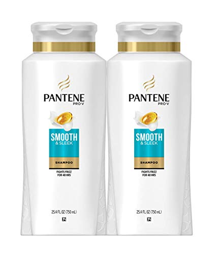 Pantene Shampoo with Argan Oil ProV Smooth and Sleek Frizz Control 254 fl oz Twin Pack