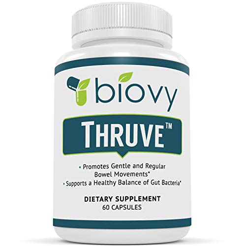 Thruve Long-term Constipation Relief Supplement - Probiotics, Prebiotics, Natural Laxatives and Fiber All In Easy To Swallow Capsules - Best Herbal Laxative Supplement For Constipation - 60 Pills
