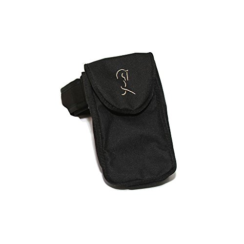 Equestrian Riders On the Leg Cell Phone Holder. Fits many iPhone, Samsung Galaxy and Motorola phones up to 6 inches x 3.5 inches - (black)