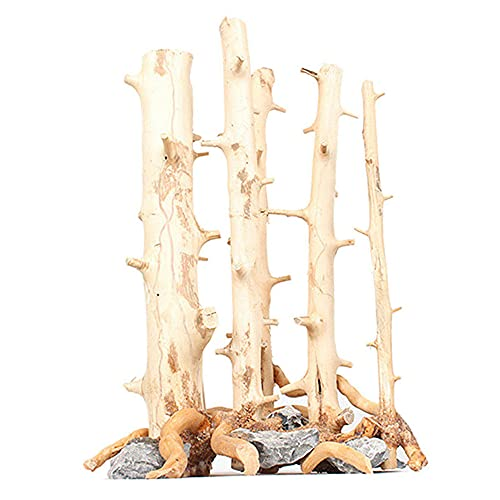 Adorno de Planta de Paisaje de Acuario de Rama de árbol de Madera Natural de Madera Flotante para pecera