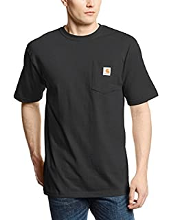 Carhartt Men's K87 Workwear Short Sleeve T-Shirt (Regular and Big & Tall Sizes), Black, Large/Tall (B002GHC33C) | Amazon price tracker / tracking, Amazon price history charts, Amazon price watches, Amazon price drop alerts