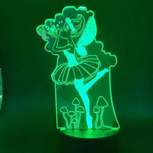 Nachtlichtmärchenmädchenfarbänderndes Lampeninnennachtlichtkindersichtbares Nachtlichtmädchengeschenk