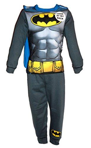 Jungen-/Kinder-Kostüm, mit Superhelden-Design, auch als Schlafanzug geeignet Gr. 7/8 Jahre, Batman