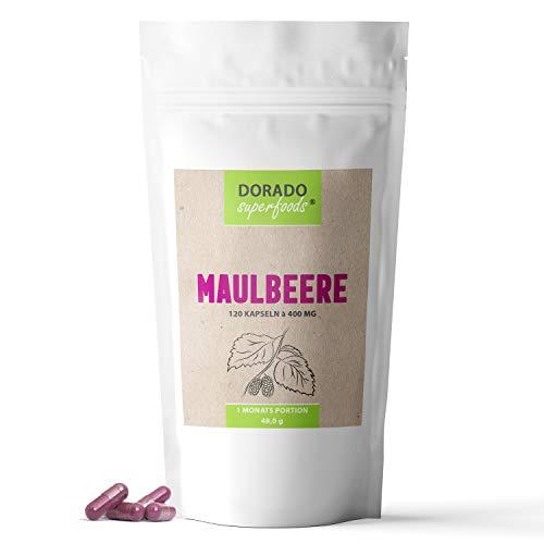 Dorado Superfoods ® Maulbeere Kapseln à 400 mg | Monatsportion - 120 Stück | morus nigra - verkapselt in Deutschland