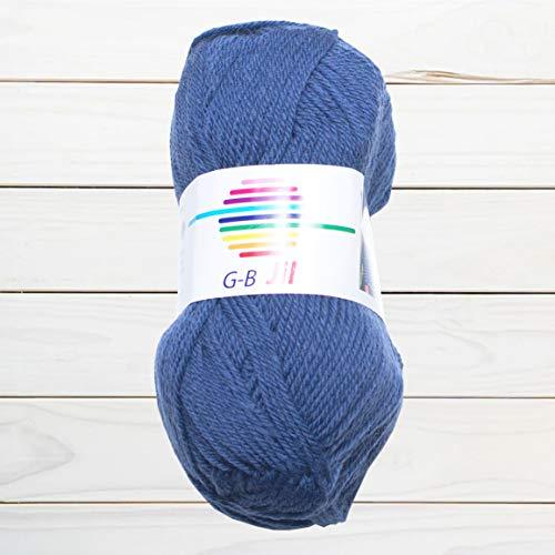 GB Wolle Jil 4505 Jeans - Ovillo de lana (100% lana virgen, 50 g, 125 m)