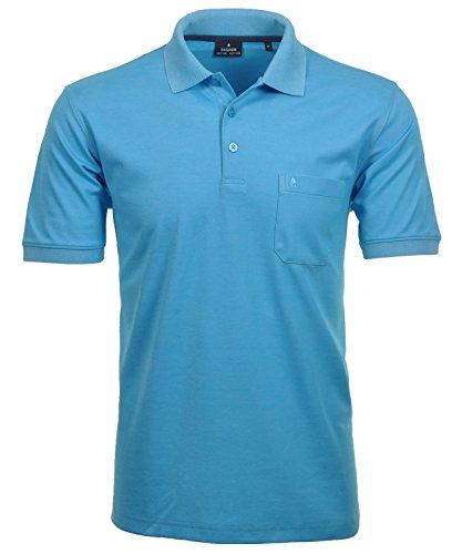 RAGMAN Herren Kurzarm Softknit Poloshirt ,Gr:-S ,Farbe:-Petrol
