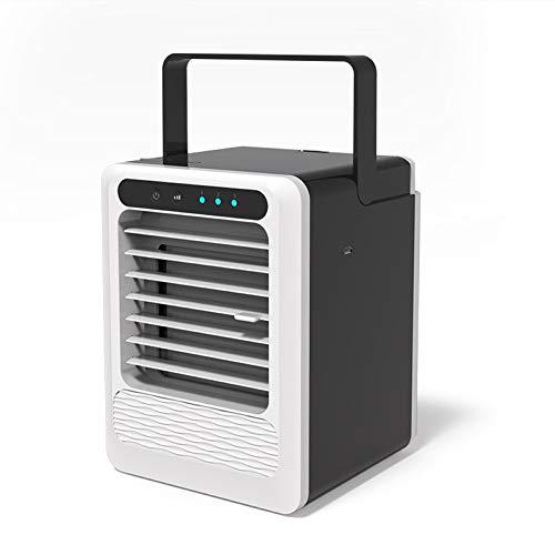 FINIVE Humidificador De 3 Engranajes para Dormitorio, Mini Enfriador De Aire Acondicionado USB, Ventilador De Enfriamiento Portátil, Humidificadores De Niebla Fría Negro