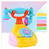 Shanaya Musical Retro Phone Toy with Lights, Music & Multiple Functions - Assorted