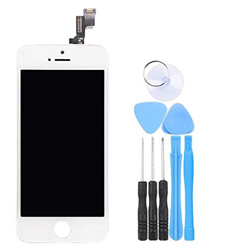 LL TRADER Skärm för iPhone 5s/se Vit, Ersättnings Retina LCD-skärm Digitizer Touch och Reparationsverktyg