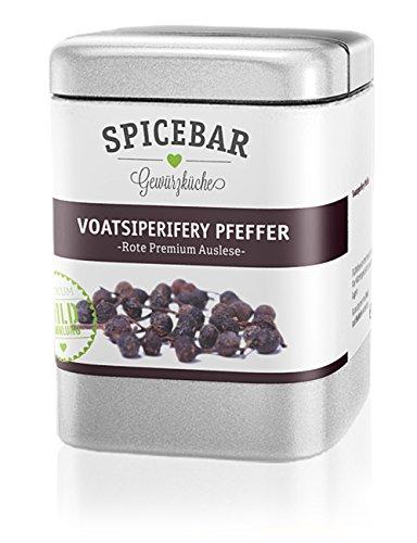 Spicebar Wilder Urwaldpfeffer Voatsiperiferypfeffer - Rote Premiumauslese aus Madagskar (1 x 60g)