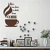 Calcomanía de pared de café barata Cafe Shop Etiqueta de pared Decoración Decoración de cocina 49x85cm