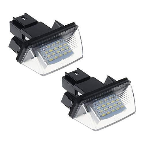 CADANIA 1 Paar 18 Kennzeichenbeleuchtung Lampe Für Peugeot 206 207 307 308 406 Citroen C3 / C4 / C5 / C6