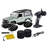 YOU339 Coche todoterreno teledirigido 1:16 2.4G 4WD Cross-Country, escalador de nieve, mando a distancia, juguete para coche con 2 tipos de ruedas de todoterreno para niños