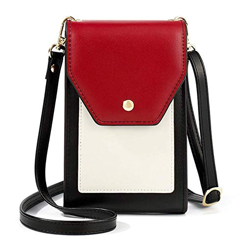 Mobile phone shoulder bag, mobile phone wallet, mobile phone bag, shoulder bag with card slots, adjustable, small shoulder bag, women's faux leather
