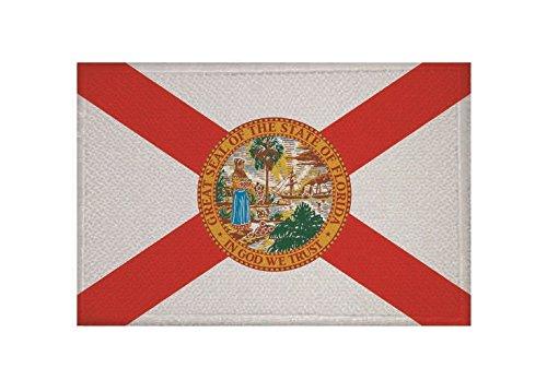 U24 Aufnäher Florida Fahne Flagge Aufbügler Patch 9 x 6 cm
